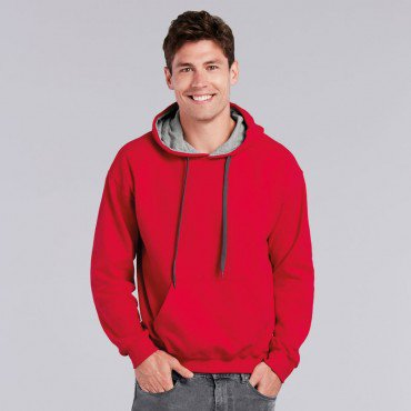 Heavy Blend Adult Contrast Hooded Sweatshirt