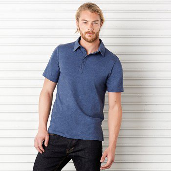 Mens Jersey Short Sleeve 5 Button Polo