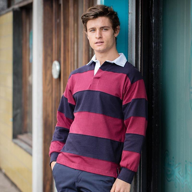 Sewn Stripe LS Rugby Shirt